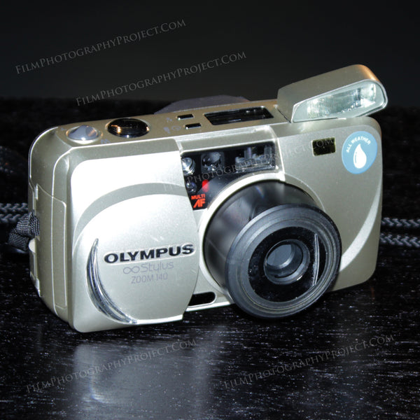 35mm Film Camera - Olympus Stylus 140 Zoom (Silver Vintage)