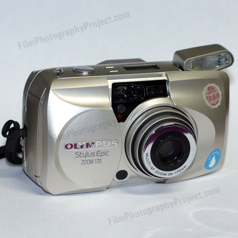 35mm Film Camera - Olympus Stylus Epic 170 Zoom (Silver Vintage)