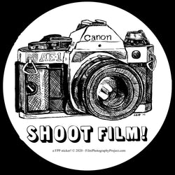 Sticker - Shoot Film - Canon AE1 (1 Sticker)