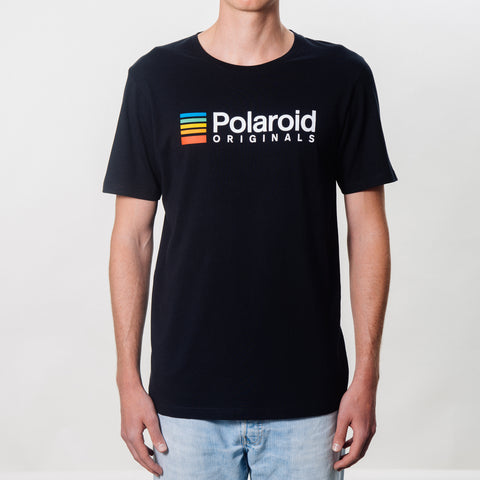 T Shirt - Polaroid Originals - Black with color logo