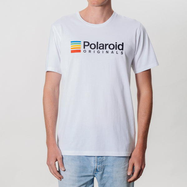 T Shirt - Polaroid Originals - White with color logo
