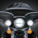 "NEW Kuryakyn 7"" ECE LED Headlights for V-Twin"