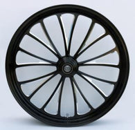 "Ultima Manhattan Black Cut Series Wheel Package - 21"" F / 16"" R"