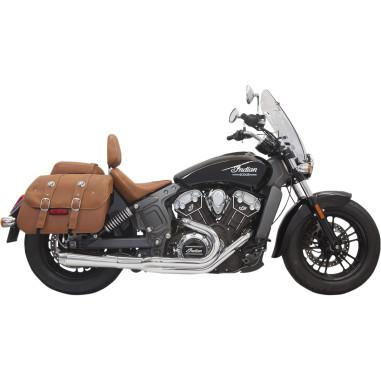 BASSANI ROAD RAGE 2-INTO-1 EXHAUST SYSTEM/SHORT MEGAPHONE MUFFLER