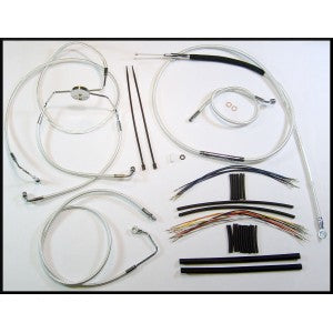 "Magnum Shielding Touring Handlebar Installation Kits for 12"" -14"" Bars -  2008-2013 Touring (Uses Existing Lower Brake Line)"