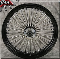 "Ultima King Spoke Wheel Set- 21"" x 3.5 / 16"" x 3.5 - Black and Chrome"