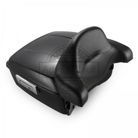 Advanblack King Tour Pack w/ Backrest - Vivid Black - for '14 & Up Harley Touring