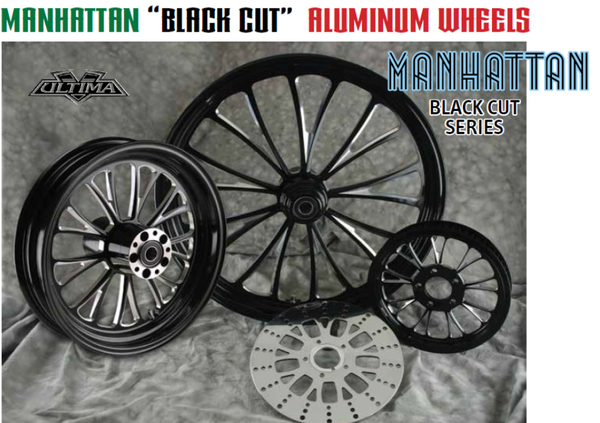 "Manhattan ""Black Cut"" Aluminum Wheels"