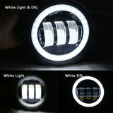 "4.5"" Harley Motorcycle LED Fog Lights with Angel Eyes"