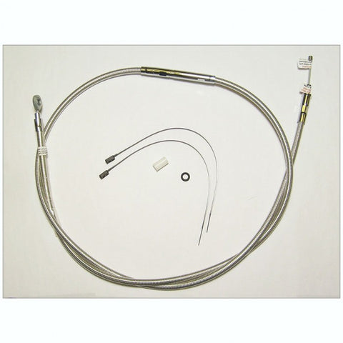 Magnum Shielding Polished Stainless Clutch Cable Alt Length  +10