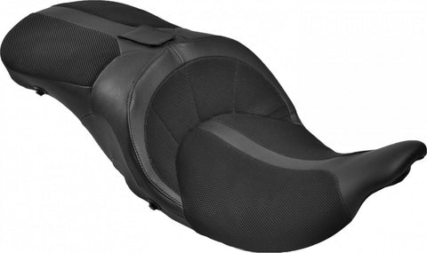Danny Gray TourIST Tall Air-2 2-Up Seat For Harley Touring Black