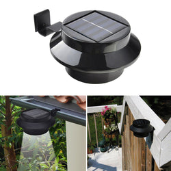 4 Pack 3-LED Outdoor Light Solar Panel Lamp