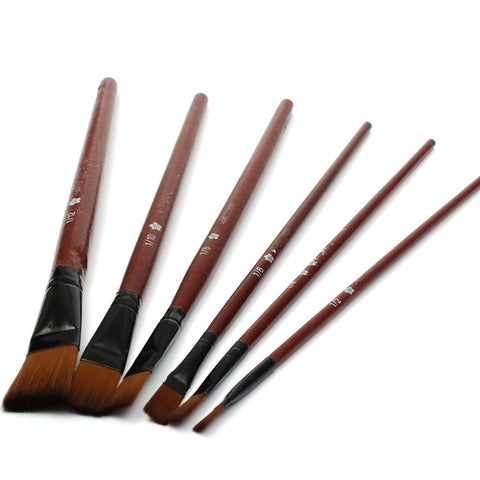 6pcs  Acrylic Watercolor  Painting Brush