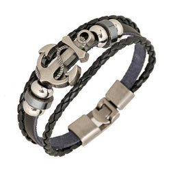 Alloy Leather Bracelet