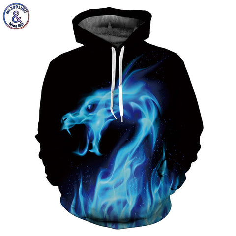 Dragon  Hoodies Snake Sweatshirts Unisex Pullovers