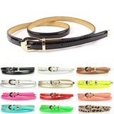 Fashion Women Candy Color Narrow Thin Skinny Waist Belt