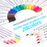Double Water Color Brush Marker Pen