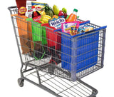 4-in-1 Reusable Eco Friendly Grocery Bags Designed for Trolley Carts
