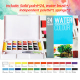 Pigment Solid Watercolor Paints /Paint Brush