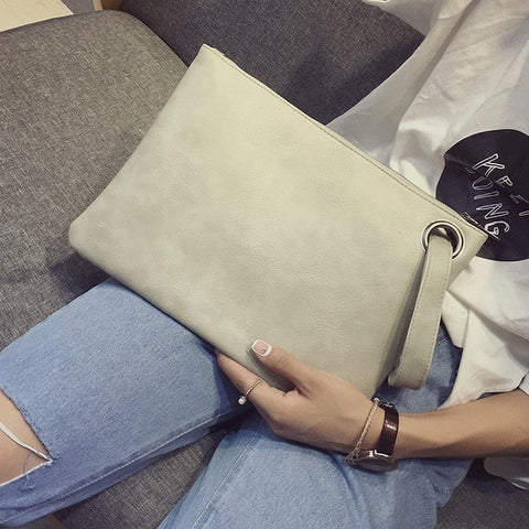 Women's clutch bag leather women