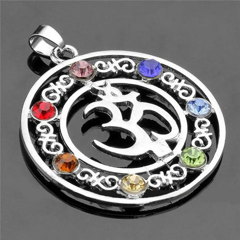 7 chakra stones yoga pendant free shipping zipworldonline 7 chakra stones yoga pendant free shipping mozeypictures Image collections