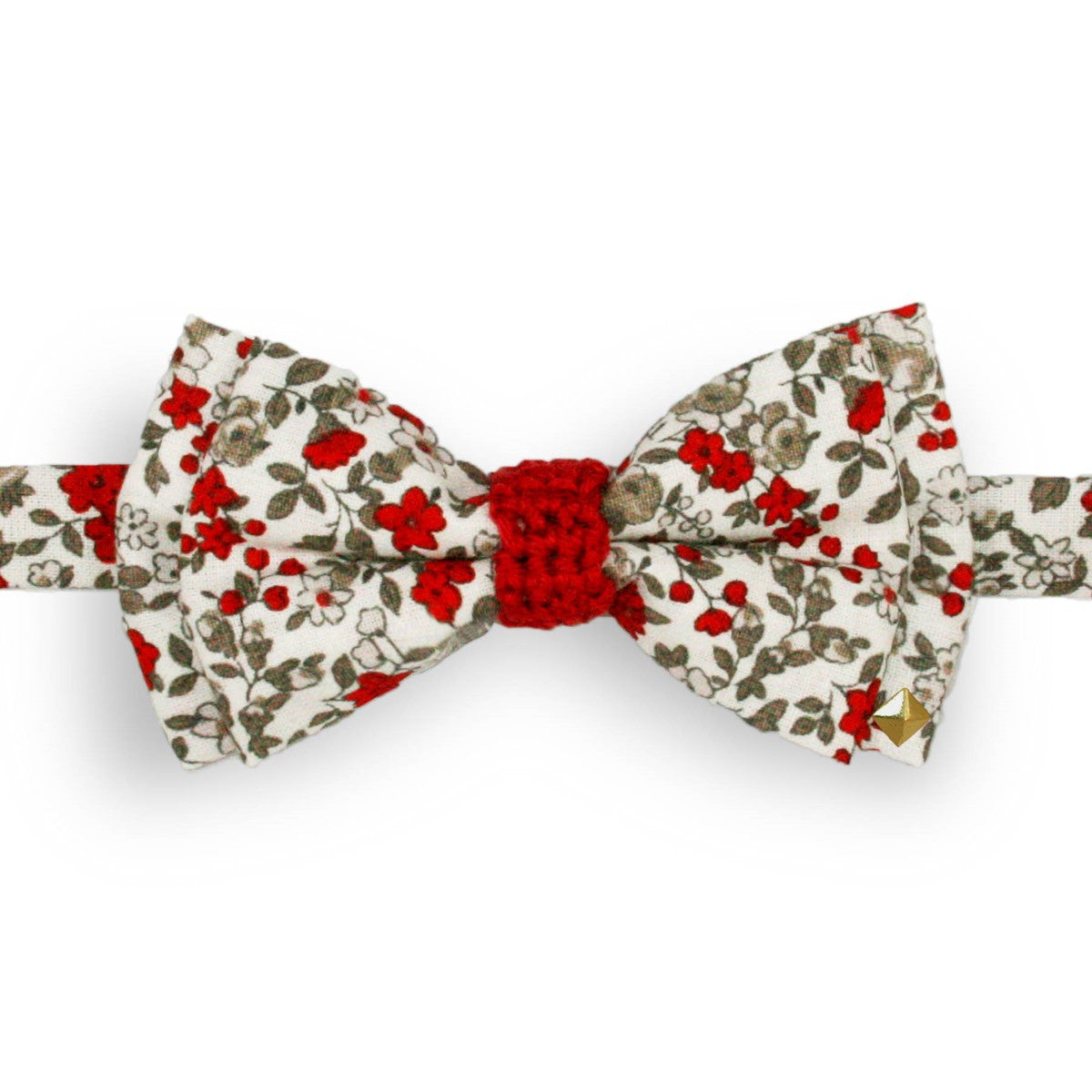 Noeud Papillon Liberty rouge clair