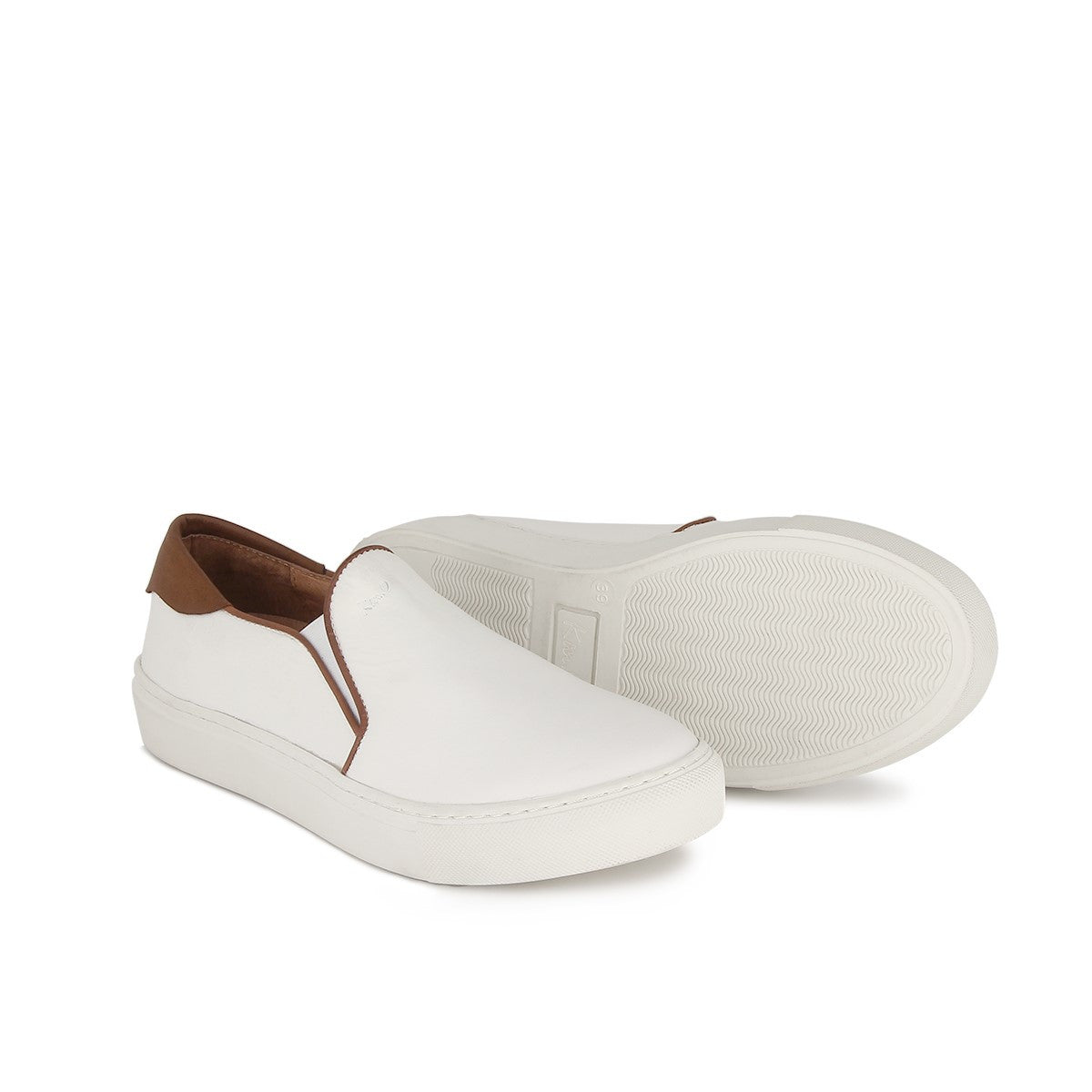 Baskets homme slip-on cuir EPURE