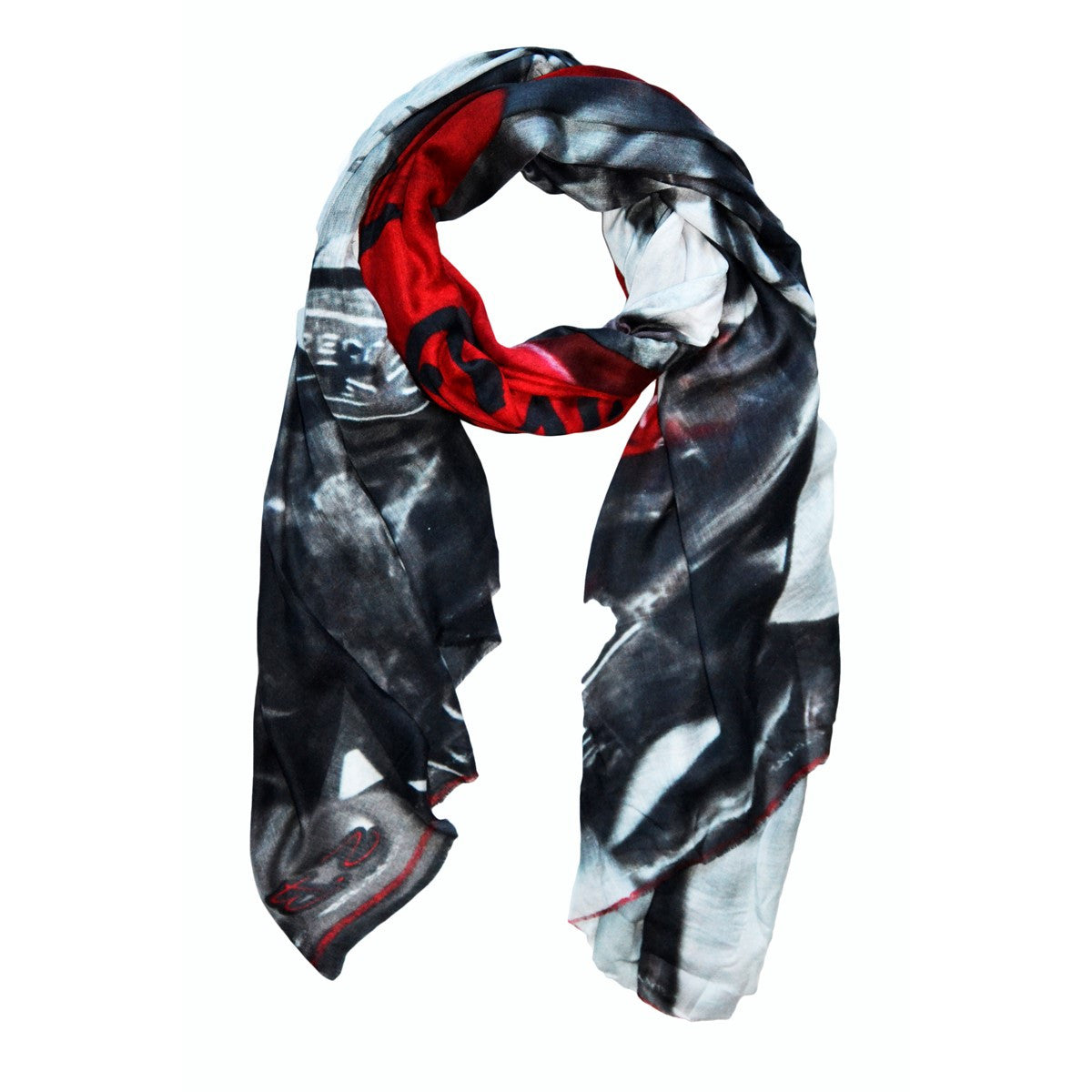 Scarf Lock and Love black Red