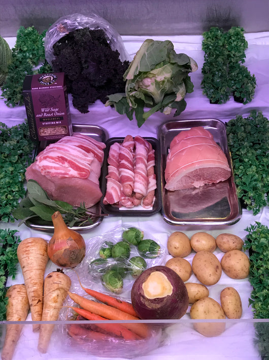 SMALL CHRISTMAS TURKEY AND VEG BOX Serves Approx 2-3