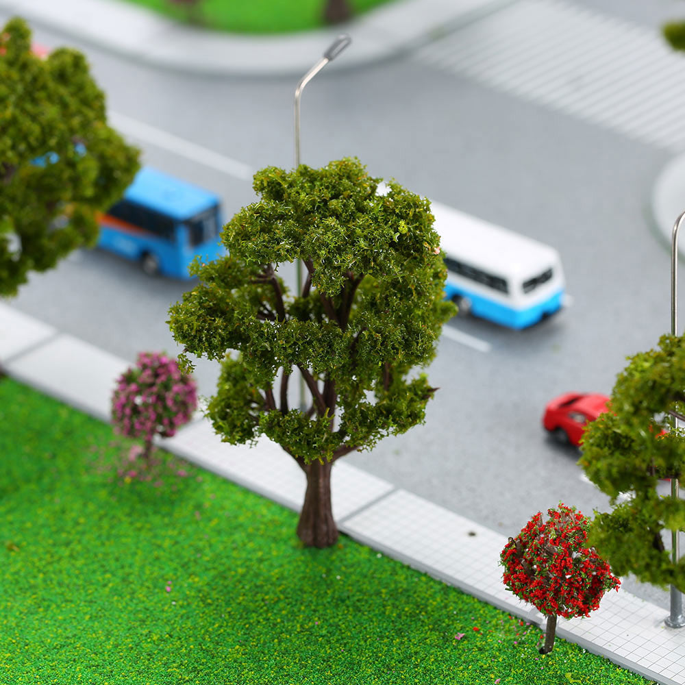 handcrafted tree model architectural model for train layout garden scenery  scene wargame landscape 10pcs plastic model trees TIML66