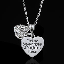 The Love Between Mother&Daughter Is Forever Hollow Out Heart Pendant (FREE SHIPPING)