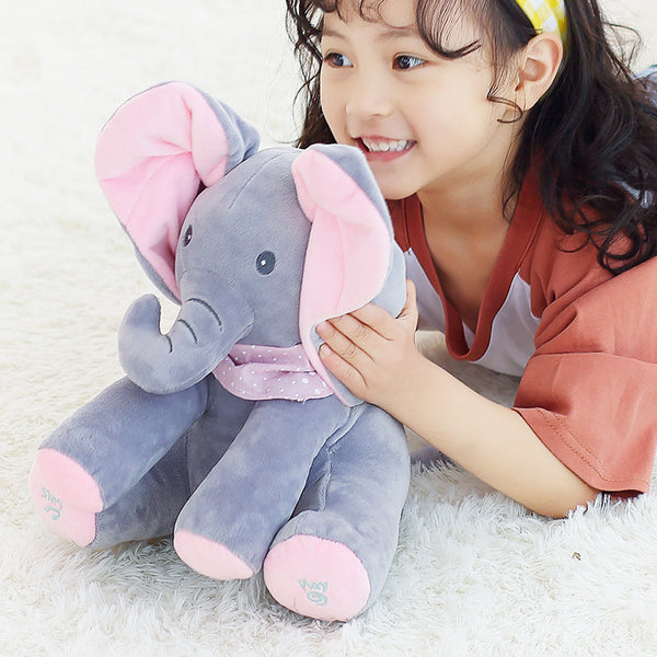 AUTOMATIC PEEK-A-BOO ELEPHANT PLUSH TOY (70% OFF)