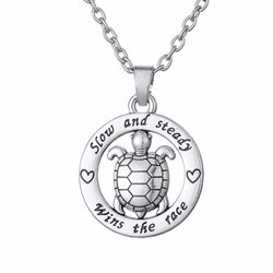 Slow and Steady Wins the Race Inspirational Turtle Necklace (50% OFF + FREE SHIPPING)
