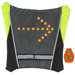 LED Turn Signal Light Reflective Vest Waterproof Backpack  for Safety Night Cycling / Running / Walking (50% OFF + FREE SHIPPING)