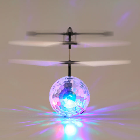 Infrared Induction Flying Flash Disco Colorful Magic LED Ball Helicopter