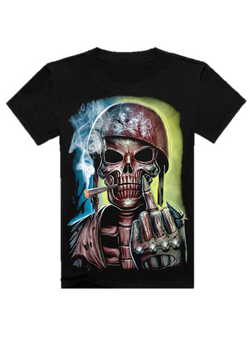 3D Printed Steam Punk Skull T-Shirt (50% OFF + FREE SHIPPING)