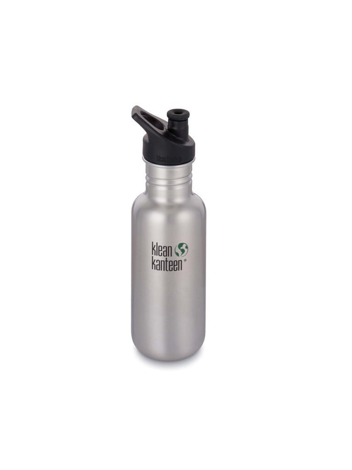 Klean Kanteen Classic Stainless steel water bottle Brushed steel. Zero waste. Plastic free