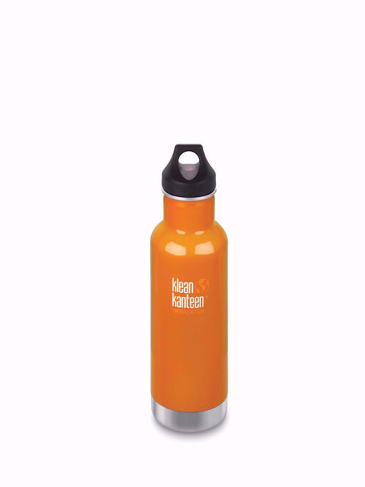 Klean Kanteen stainless steel insulated water bottle.Canyon Orange