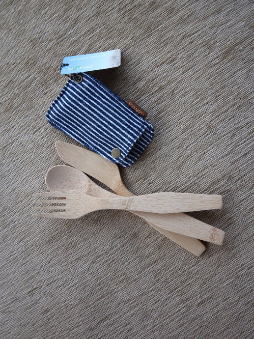 Bamboo portable cutlery set. No more plastic
