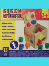 wooden block sorter- less plastic