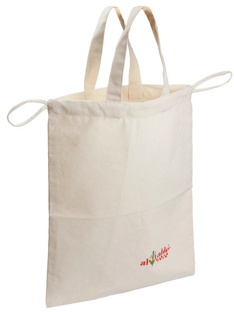 organic cotton bread bag. No plastic