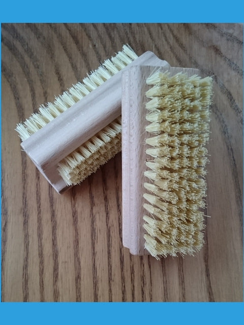 natural fibre and wood nail brush. Plastic free. Zero waste