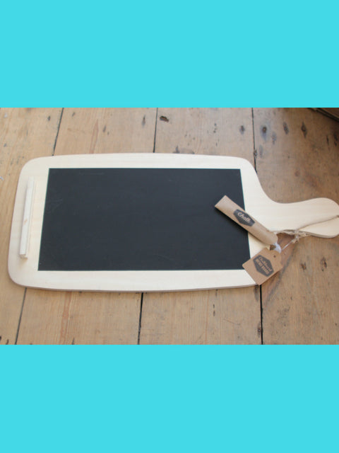 wooden chalk board- plastic free play