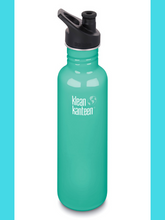 Klean Kanteen Stainless Steel 27 fl oz (800ml) Classic bottle sports (inc New Klean Coat)
