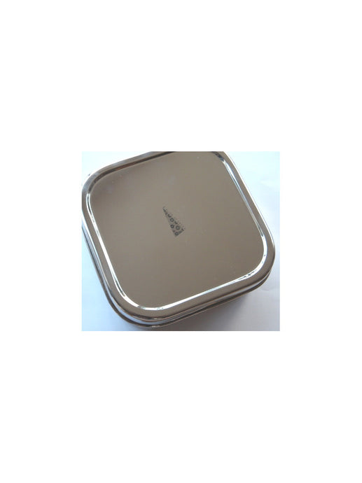 Slice of green mini oblong stainless steel food container