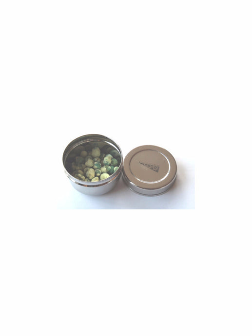 Mini round stainless steel food container-Slice of Green
