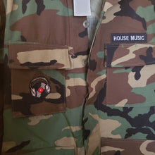 Camouflage House Music Jacket with dance patches with FREE SHIPPING!