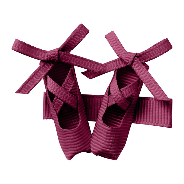 Ballerina Shoes Hair Clip - Raspberry Pink