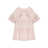 Party Girl Pale Pink Bow Dress