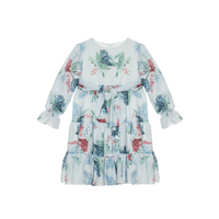 Party Girl Blue Floral Dress